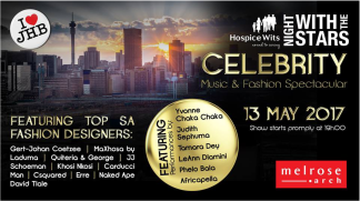 Hospice Wits Night with the Stars, Music and Fashion Spectacular